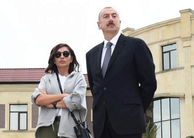 Prezident və xanımı liseyin yeni binasının açılışında