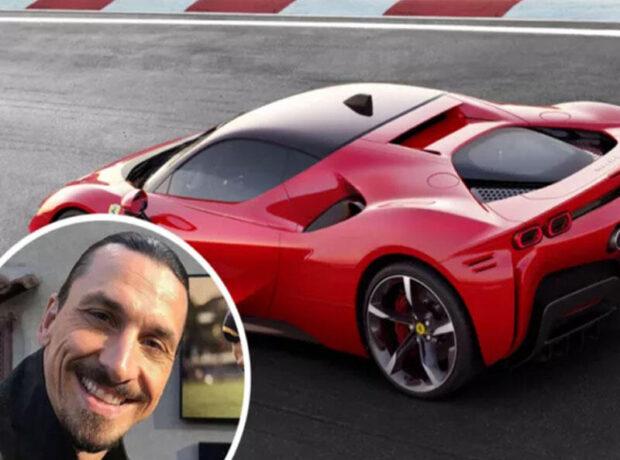 """İbrahimoviç yubileyində özünə 450 minlik """"Ferrari"""" hədiyyə etdi"""