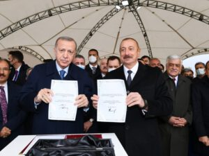 Azərbaycan və Türkiyə prezidentləri Zəngəzur dəhlizinin təməlini qoydular